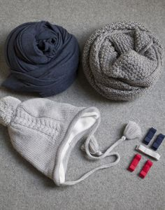 All the accessories your wee ones needs for their cool weather capsule wardrobe. Blue Grey, Red And White, Capsule Wardrobe, Winter Hats, Weather, Cool Stuff, Girls, Accessories, Fashion