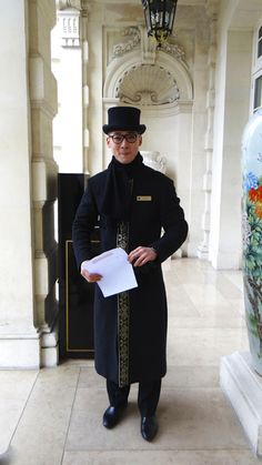 The lift attendant at Shangri La Hotel Paris