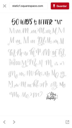 50 Way to Letter M