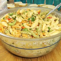 Simple Macaroni Salad made with Knorr's vegetable soup mix. The best!
