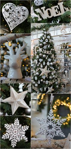 white washed wood and white accents in a natural christmas theme