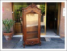 Credenza Con Vetrina Fine 800 : Piccola libreria napoleone iii intarsiata fine antiques