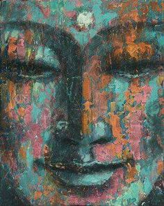 """""""Although we have been made to believe that if we let go we will end up with nothing, life reveals just the opposite: that letting go is the real path to freedom. Buddha Face, Buddha Zen, Buddha Buddhism, Buddhist Art, Buddha Artwork, Buddha Painting, Buddha Kunst, Zen Art, Religious Art"""