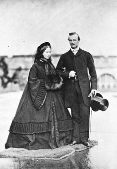 Princess Alice and Prince Louis in 1860