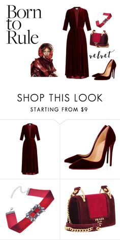 """Untitled #318"" by glamgurl32 ❤ liked on Polyvore featuring LUISA BECCARIA, Christian Louboutin, Puma, WithChic and Prada"