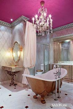 Marvelous feminine bathroom.