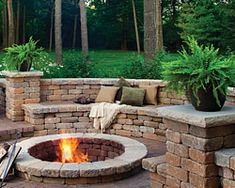 5 Joyous Tips AND Tricks: Corner Fire Pit Porches fire pit lighting bonfires.Rock Fire Pit How To Make fire pit lighting bonfires. Fire Pit Wall, Fire Pit Decor, Wood Fire Pit, Rustic Fire Pits, Concrete Fire Pits, Small Fire Pit, Modern Fire Pit, Fire Pit Chairs, Fire Pit Seating