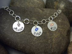 Custom Hand Stamped Sterling Silver Charm by SayWhatCreations, $54.50