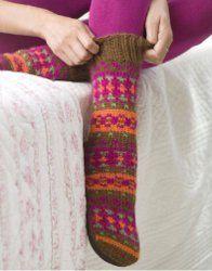 Knitted Adirondacks Slipper Socks Beanie Knitting Patterns Free, Knit Slippers Free Pattern, Knitting Blogs, Knitted Slippers, Slipper Socks, Free Knitting, Knitting Projects, Knitting Socks, Crochet Patterns