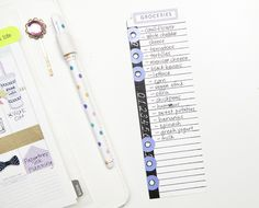 washi tape over spiral binding to use list tab dies in binder system