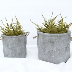 Make these DIY greenery planters in just minutes with just a few easy steps!