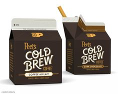 Peet's Cold Brew Coffee on Packaging of the World - Creative Package Design Gallery