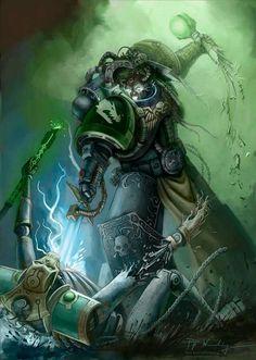 Salamander Space Marine Vs Necron Lord