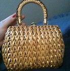 Vintage Basket Weave Purse Great Condition! VLV~Rockabilly~Summer~Picnic~Straw