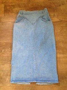 e6691669fd7bb Women s Modest Western Size 9 10 Jean Skirt Long Skirt Classy Denim Skirt   StuffedShirt  ALine