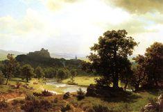 Evening, Owens Lake, California - Albert Bierstadt - WikiArt.org