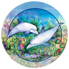 Find amazing Thirstystone Stoneware Coaster Set, Dolphin Duo dolphin gifts for your dolphin lover. Great for any occasion! Glass Spice Jars, Drink Coasters, Wall Sculptures, Coaster Set, Art Pictures, Dolphins, Canvas Wall Art, Vinyl Decals, Artwork