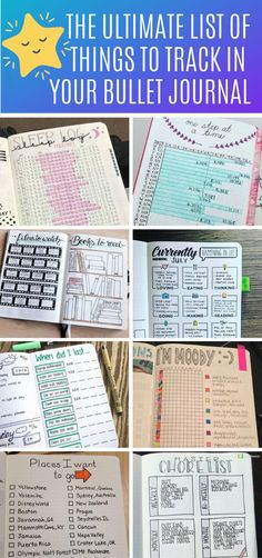 Bullet Journal Tracker Ideas - Inspiration You'll Love <br> The super fun part of your bujo is the trackers and collections! Choose from our HUGE list of bullet journal ideas So many things to track in your bullet journal you might not have thought of! Bullet Journal Tracker Ideas, Bullet Journal Tracking, Bullet Journal Headers, Bullet Journal Hacks, Bullet Journal Notebook, Bullet Journal Themes, Bullet Journal Spread, Bullet Journal Inspiration, Journal Ideas