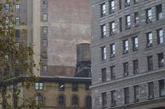Water tower behind the Flatiron Building