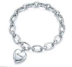 #Tiffany & co Mom #Heart Locket Sterling #Silver #Bracelet Sale