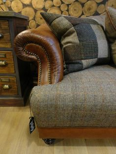 Tetrad Harris Tweed Taransay sofa Collection - Bracken from Tannahill Furniture Ltd Living Furniture, Home Decor Furniture, Pallet Furniture, Funky Furniture, Antique Furniture, Harris Tweed, Living Room Sets, Living Room Chairs, Dining Chairs