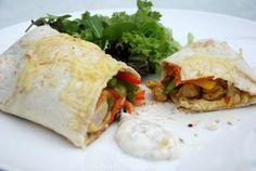 Gevulde tortilla wraps met paprika en kip - Keuken♥Liefde