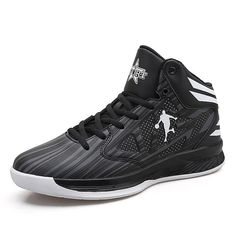 new styles 84b42 783a0 New High Top Basketball Sneakers Men Women Size 36-45 Basketball Shoe  Leather Black Blue