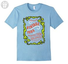 Mens Made In 1984 33th Birthday 33 Years Old Gift T-Shirt 2XL Baby Blue - Birthday shirts (*Amazon Partner-Link)