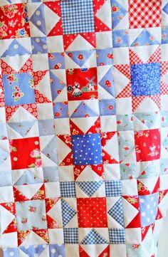 Helen Philipps blog - evening star quilt blocks , so pretty!