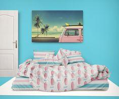 Surfer Bedding™ Pink Surfboards and Preppy Beach Stripes Comforter Set Toddler Comforter Sets, Queen Size Comforter Sets, Beach Bedding Sets, King Size Comforters, Queen Size Duvet Covers, Cheap Bedding Sets, Bedding Sets Online, Duvet Cover Sets, Preppy Bedding