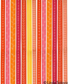 Tangerine Twirl Pattern Collection by Linda Solovic on Behance