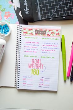 Weight Loss and Food Diary Notebook