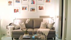 Kelly's couch in her dressing room! #KellyandMichael