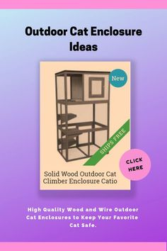 Outdoor cat containment systems offer safe and efficient ways to contain your cat when needed. Our selection of high quality wood and wire outdoor cat enclosures allow you to provide your cat a safe environment to enjoy the outdoors.  Choose from a variety of sizes and features, accommodating both kittens and adult cats.  #outdoorcatenclosure #catios #catthings #catfurniture #catbedandfurniture #ad #afflink Outdoor Cat Enclosure, Outdoor Cats, Cat Photography, Catio, Cat Furniture, Beautiful Cats, Cat Breeds, Cool Cats, Cats And Kittens