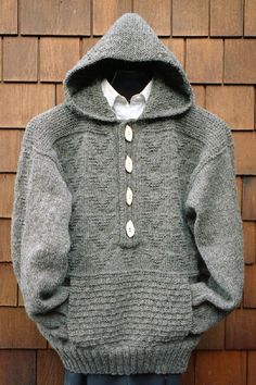 MS 165 Hooded Placket Pullover