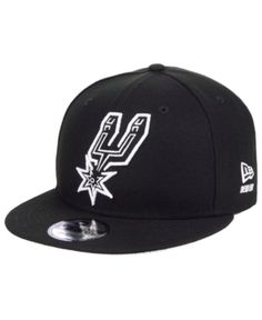 045db7af889 New Era San Antonio Spurs Logo Trace 9FIFTY Snapback Cap - Black Adjustable