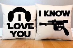 Star Wars I Love You/I Know Pillow Set