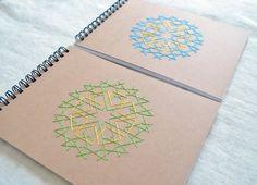 Moroccan design embroidered sketchbook