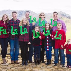 """Christmas Sign Family Photo Props """"Fa La La La"""" 10 Piece"""