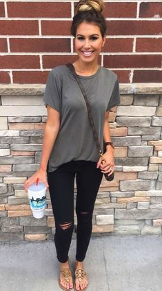 **** Get beautiful looks like this one today from Stitch Fix delivered right to your door! Love the simplicity of this outfit - black skinnies and a great fitting grey tee! Stitch Fix Spring, Stitch Fix Summer, Stitch Fix Fall 2016 2017. Stitch Fix Spring Summer Fall Fashion. #StitchFix #Affiliate #StitchFixInfluencer