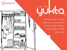 Here is a quick tip to organize your wardrobe by Yukta Mathur. #TipsByYukta
