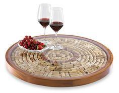 Shop for wine corks lazy susan at Bed Bath & Beyond. Buy top selling products like Wine Enthusiast Wine Cork Lazy Susan Kit and undefined. Shop now! Wine Craft, Wine Cork Crafts, Wine Bottle Crafts, Champagne Cork Crafts, Wine Cork Holder, Wine Cork Art, Wine Cork Boards, Wine Cork Table, Wine Cork Trivet