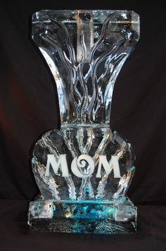 Mother's Day MOM Vase Ice Sculpture