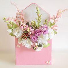Table Flowers, Felt Flowers, Diy Flowers, Pretty Flowers, Paper Flowers, Flower Box Gift, Flower Boxes, Flower Centerpieces, Flower Decorations