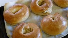 These bagels are boiled with honey and then baked for that authentic bagel flavor and texture. Top them with coarse salt, sesame seeds, poppy seeds, onion flakes, or everything!