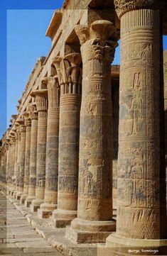 Philae Temple For Goddess Isis 362 BC Aswan Egypt. Egyptian Temple, Egyptian Art, Ancient Ruins, Ancient History, Ancient Egyptian Architecture, Isis Goddess, Old Egypt, Visit Egypt, Luxor Egypt