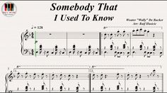 Somebody That I Used To Know - Gotye, Piano