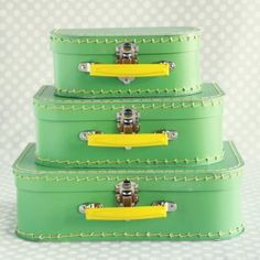 paper suitcase set $32 - so cute for a going away party!