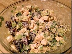 This chicken salad holds up very well in the fridge, and has 3 generous 1-cup servings at just 4 Weight Watchers PointsPlus Value each. Serve it up with some pita for lunch.