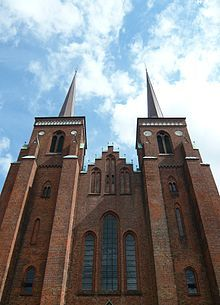 Roskilde Cathedral has been the burial place of Danish royalty since the century. In 1995 it became a World Heritage Site Moving To Canada, Danish Royalty, Cathedral Church, Odense, Gothic Architecture, Place Of Worship, 15th Century, European Travel, World Heritage Sites
